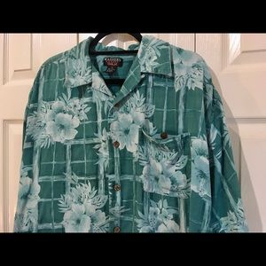 WASHERS RESORT Men's Silk Shirt XL